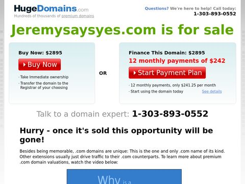 JeremySaysYES.com