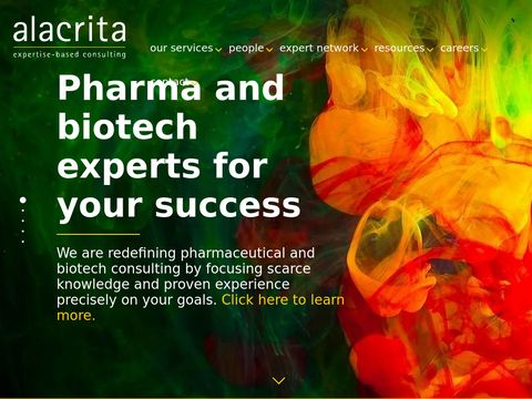 Alacrita - Pharma Consulting & Life Science Consulting  |  Expertise-based consulting  |  strategy  |  analysis  |  operations