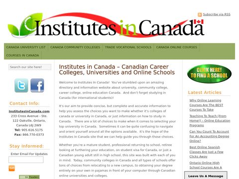 Canadian Online Universities