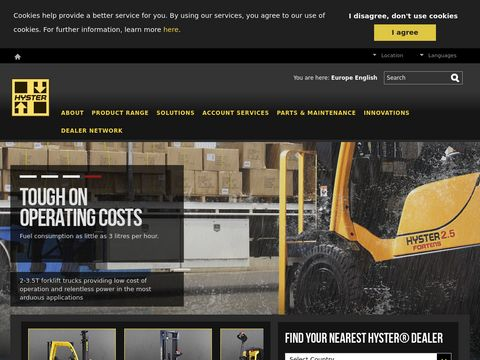 Lift trucks in Europe, Middle East and Africa from Hyster
