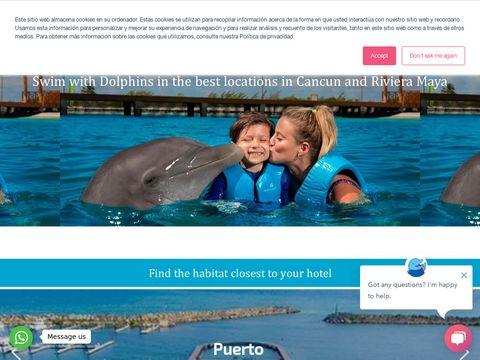 Dolphin swim in Cancun and Riviera Maya Mexico - Delphinus.
