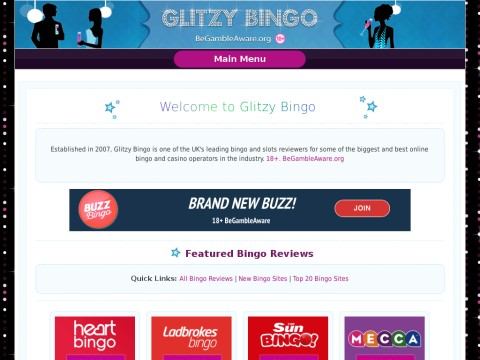 Glitzy Bingo - Play Bingo online - www.foxybingo.co.uk -  UK