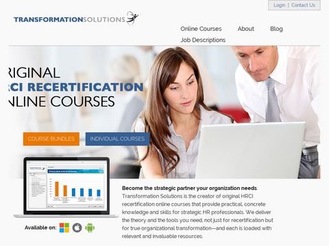 HRCI Certified Online Courses | Transformation Solutions
