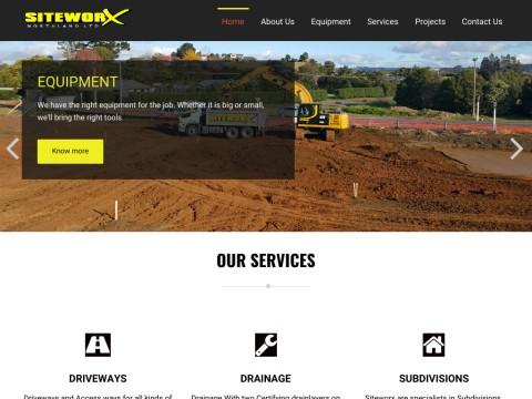 Siteworx Northland | Drainage, Construction Services, Earthmovers | New Zealand