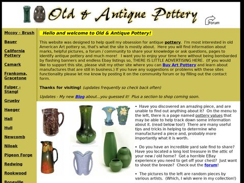 Old and Antique Pottery Information