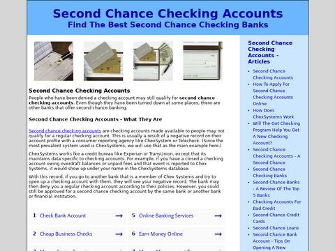 Articles On Second Chance Bank Accounts