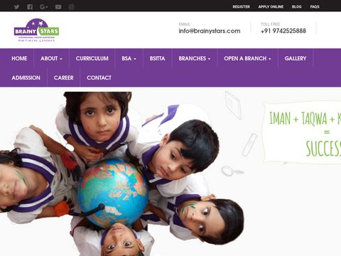 Brainy Stars International Holistic Montessori | Kindergarten | Preschool | Nursery School - Bangalore, India