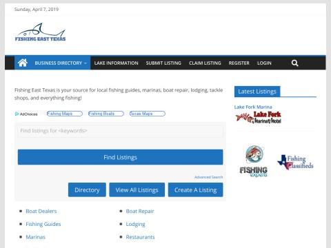 Fishing East Texas Lake Directory