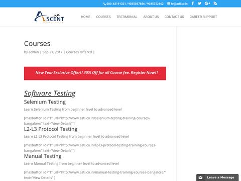 Software Testing Training Institue In Bangalore|Courses Offered