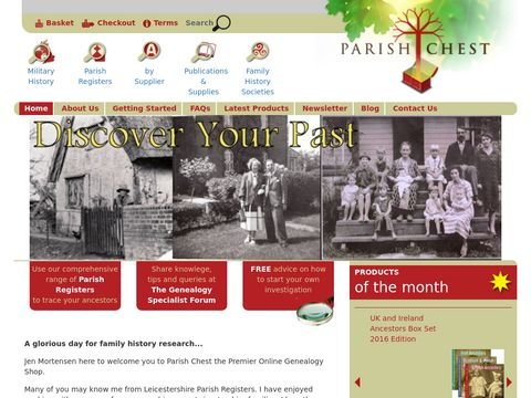 Parish Chest Family History & Genealogy Shop