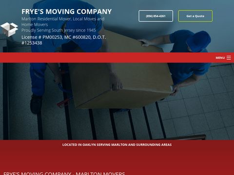 Fryes Moving - South Jersey Movers - New Jersey Moving Comp