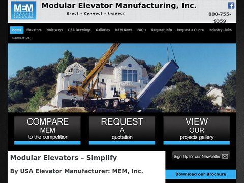 Modular Elevator Manufaturing