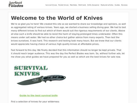 Welcome to the world of knives