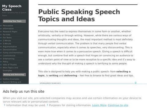 Speech Topics Help