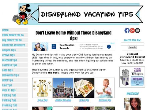 Disneyland Vacation Tips