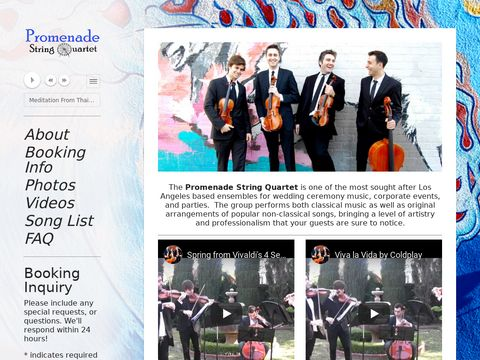 Promenade String Quartet - Los Angeles Wedding Musicians