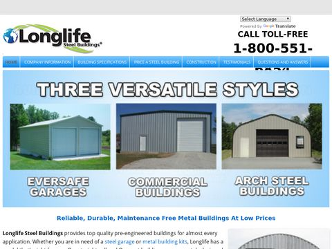 Steel Buildings » Metal Buildings » Longlife Steel Buildings