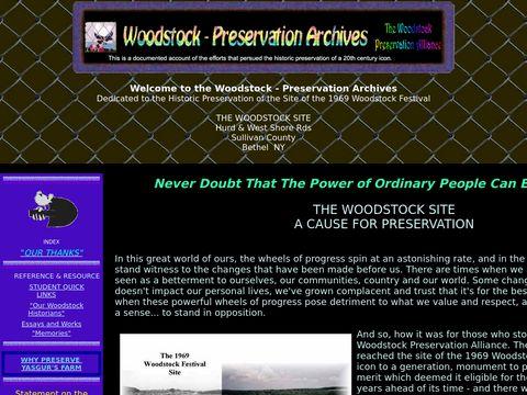 Woodstock - Preservation Archives
