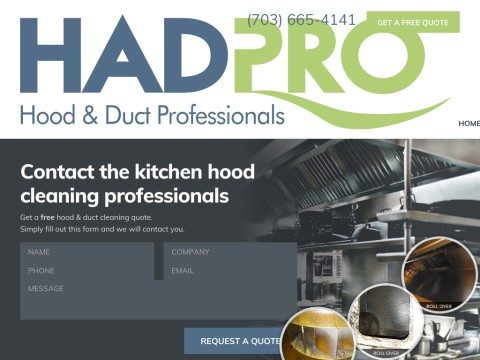 Kitchen Hood Maintenance, Restaurant Exhaust Cleaning, HADPRO, MD