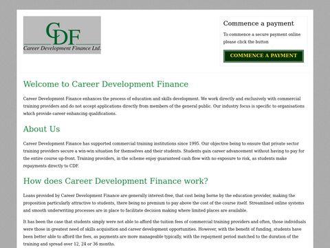 Career Development Finance