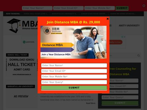 Distance MBA Learning in India