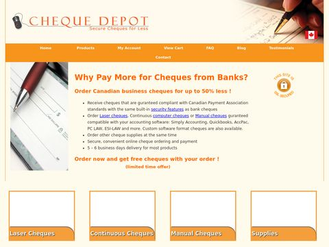 Cheque Depot | Order Canadian Business Cheques Online