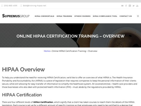 Online Anytime HIPAA Certification Training