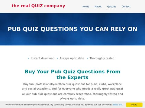 Pub quiz questions and everything for your pub quiz