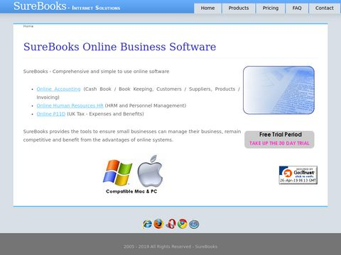 Welcome to SureBooks Online Accounting Human Resources and P11D Solutions