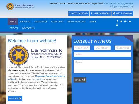 Landmark Manpower Solution, Nepal Employment Agency, Recruitment Agency,nepal manpower, Manpower supply from Nepal - Home
