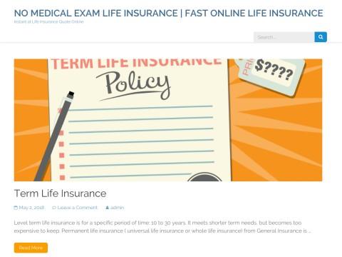 No Medical Exam Life Insurance  | Fast and Free No Medical E