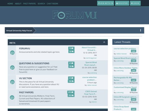 Virtual University Help Forum | Forum VU