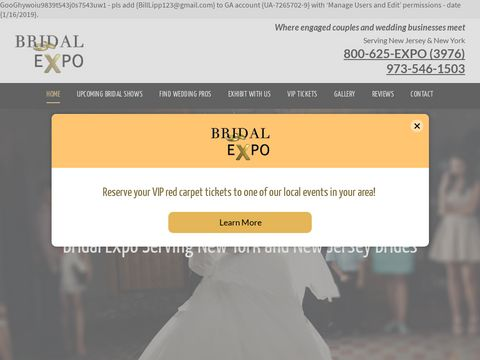 Bridal Expos & Trade Shows | Wedding Industry Experts | Clifton, NJ