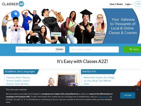 Classes A to Z | Local & Online Lessons, Teachers & Tutors