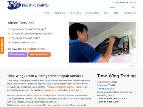 Aircon Servicing, Air-Con Service, Air Conditioner Repairs, AC Repair | Time Wing