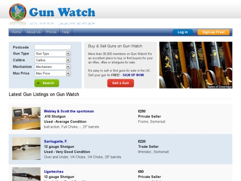 Gunwatch Classifieds buy and sell directory for guns has det