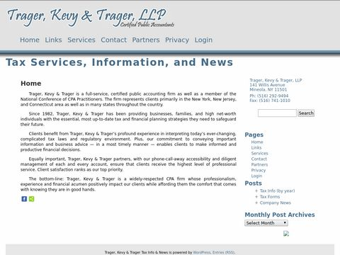 Trager, Kevy and Trager, LLP Certified Public Accountants