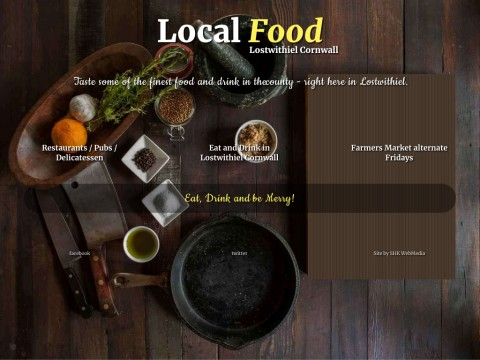 Cornish Food and Drink from Lostwithiel Cornwall UK
