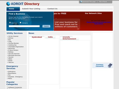 ADROIT Directory, Business Directories in Hyderabad, Local Search Directory