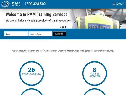 Training Courses - Brisbane Gold Coast - RAM Training Services - Brisbane and Gold Coast