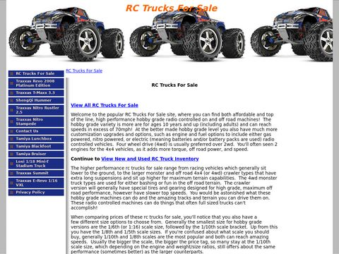 RC Trucks For Sale