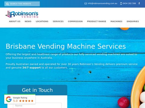 Robinsons Vending-Drink and Food Vending Machines Australia