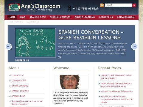 AnasClassroom - Conversational Spanish and GCSE Spanish