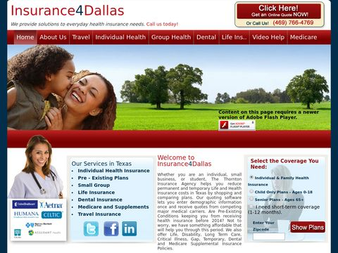 Insurance4Dallas provides Life and Health Insurance Quotes