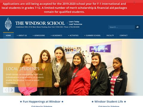 The Windsor School - New York High School, Middle School, Junior High School, Pre University & ESL School