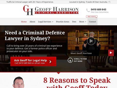 Criminal Lawyer   Criminal Barrister   Sydney - Geoff Harrison - LLM, M.CRIM, MBA