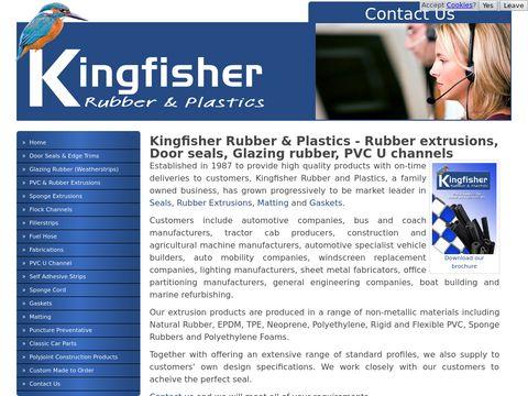 Kingfisher Rubber & Plastics - Rubber extrusions, Door seals, Glazing rubber, PVC U channels