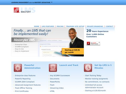 Mastery LMS Learning Management System Software