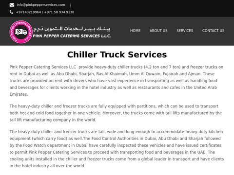 Chiller Truck | Chiller Truck Rental Dubai