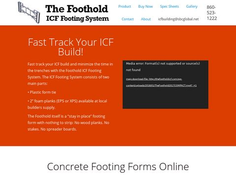 Foothold ICF Footing System